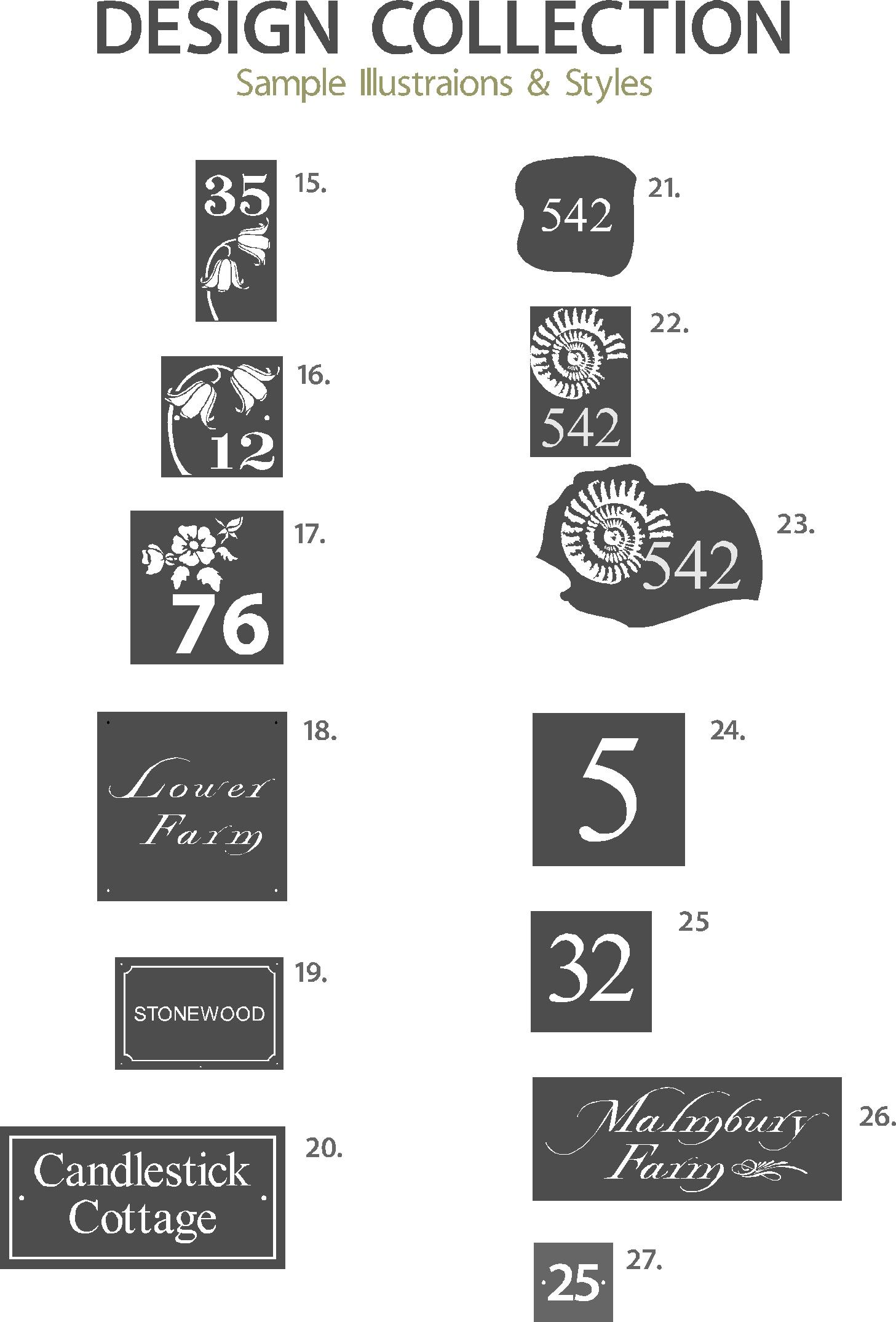 Slate Sign Illustration Collection 2