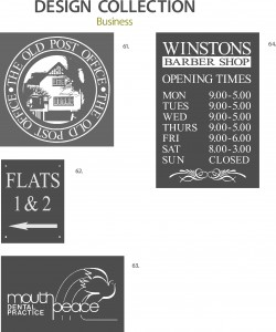 Slate Sign Illustration Collection 5