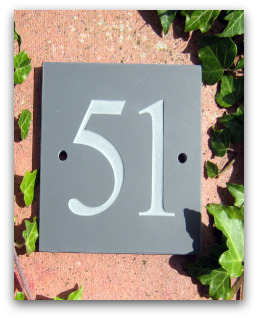 Slate House Sign Numbers Only