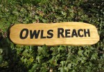 wood sign by Joule Designs